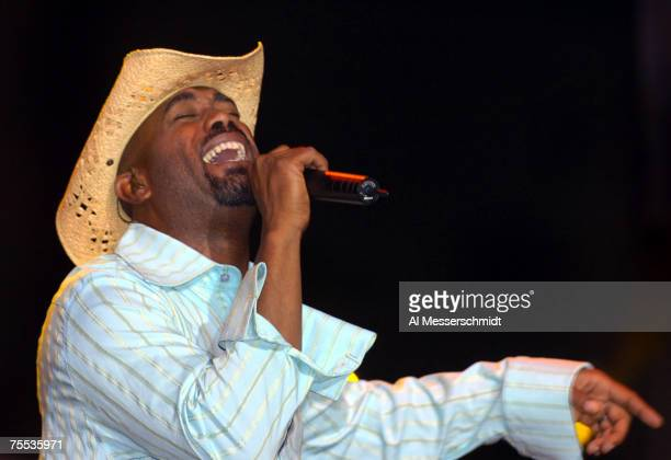 Darius Rucker of the Hootie and the Blowfish performs after the second round of the Nationwide Tour BMW Charity Pro-Am on April 28 in Greenville, S.C.