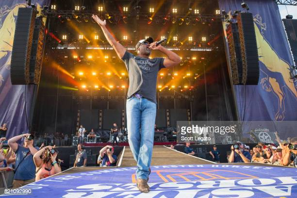 Darius Rucker perform during day 2 of Faster Horses Festival at Michigan International Speedway on July 22 2017 in Brooklyn Michigan