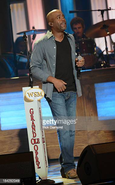 Darius Rucker performs at Darius Rucker's induction into The Grand Ole Opry on October 16 2012 in Nashville Tennessee
