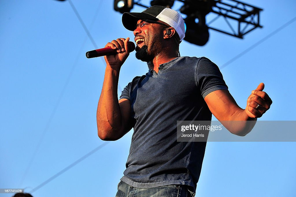 Darius Rucker performs at the 2013 Stagecoach Country Music Festival at The Empire Polo Club on April 28, 2013 in Indio, California.