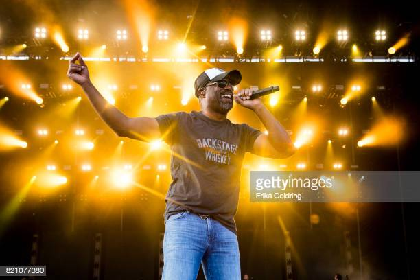 Darius Rucker performs during Faster Horses Festival at Michigan International Speedway on July 22 2017 in Brooklyn Michigan