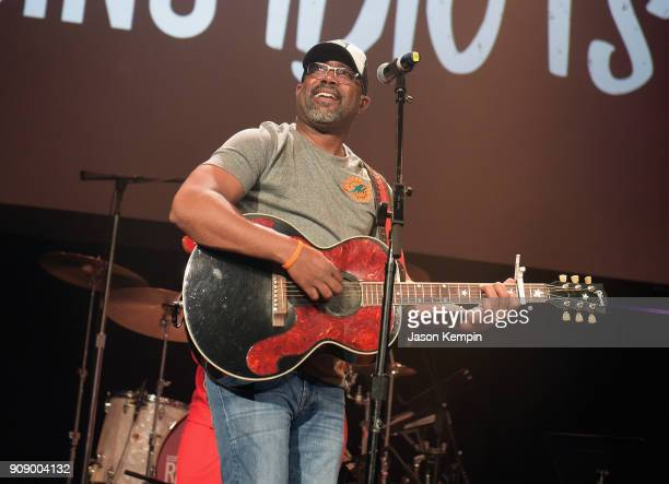 Darius Rucker performs onstage during the Bobby Bones The Raging Idiots' Million Dollar Show for St Jude at the Ryman Auditorium on January 22 2018...