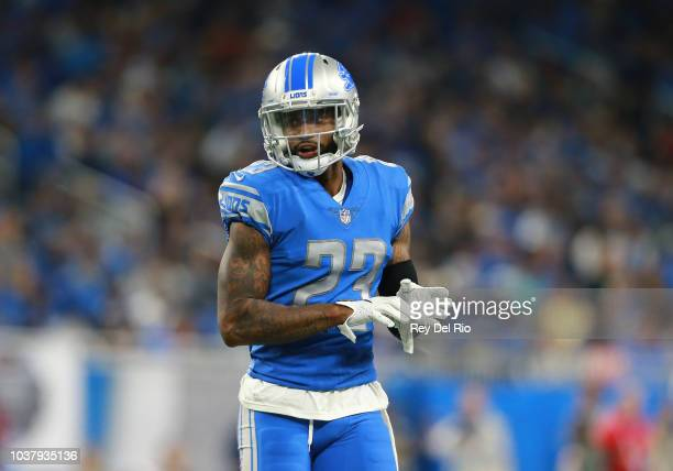 Darius Slay of the Detroit Lions in action during the game against the New York Jets at Ford Field on September 10 2018 in Detroit Michigan