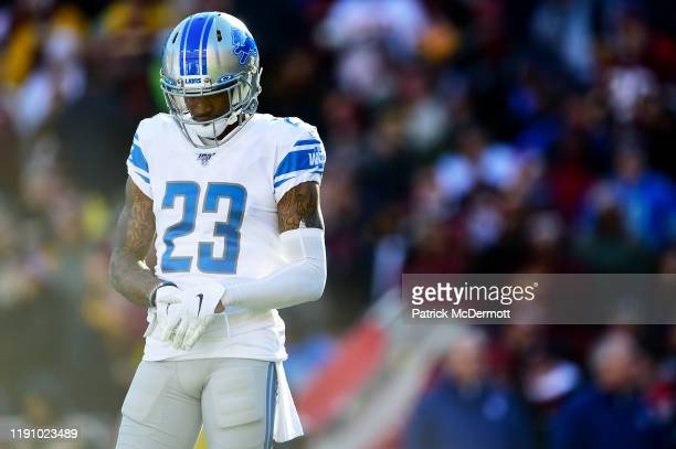 Darius Slay of the Detroit Lions in action in the first half against the Washington Redskins at FedExField on November 24 2019 in Landover Maryland