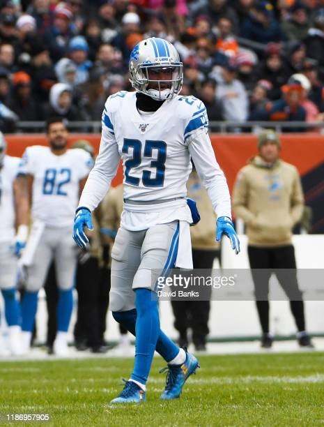Darius Slay of the Detroit Lions plays against the Chicago Bears at Soldier Field on November 10 2019 in Chicago Illinois