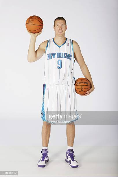 Darius Songaila of the New Orleans Hornets poses for a portrait during 2009 NBA Media Day on September 28 2009 at the New Orleans Arena in New...