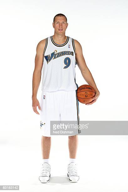 Darius Songaila of the Washington Wizards poses for a portrait during NBA Media Day on September 26 2008 at the Verizon Center in Washington DC NOTE...