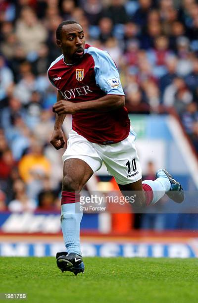 Darius Vassell of Aston Villa in action during the FA Barclaycard Premiership match between Aston Villa and Sunderland held on May 3 2003 at Villa...