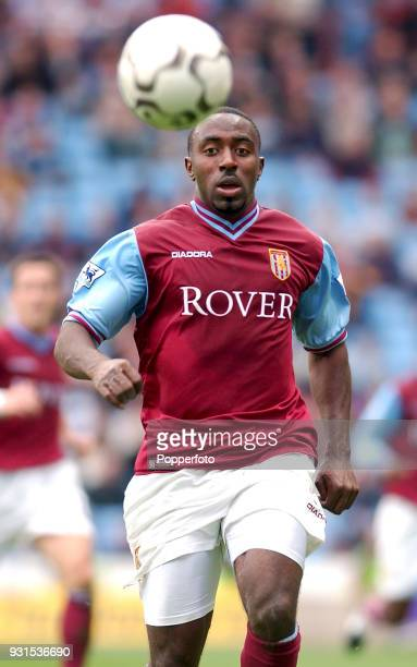 Darius Vassell of Aston Villa in action during the FA Barclaycard Premiership match between Aston Villa and Leeds United at Villa Park in Birmingham...