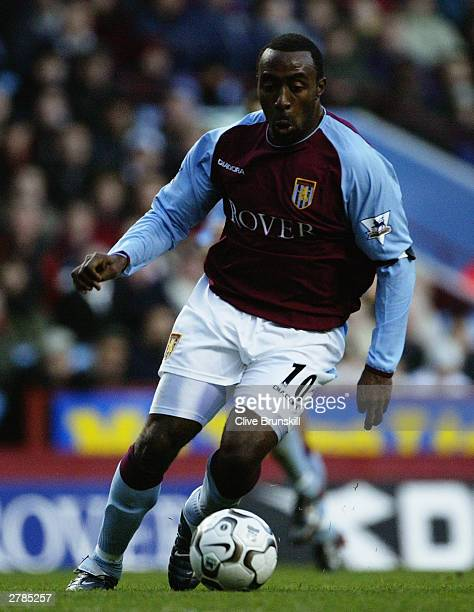 Darius Vassell of Aston Villa running with the ball during the FA Barclaycard Premiership match between Aston Villa and Southampton on November 29...