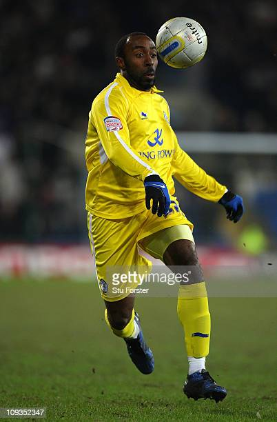 Darius Vassell of Leicester City in action during the npower Championship match between Cardiff City and Leicester City at Cardiff City Stadium on...