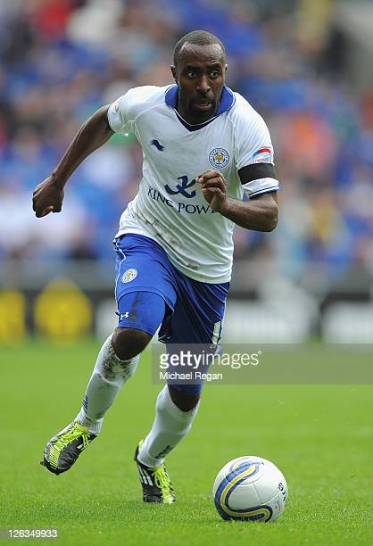 Darius Vassell of Leicester City in action during the npower Championship match between Cardiff City and Leicester City at the Cardiff City Stadium...