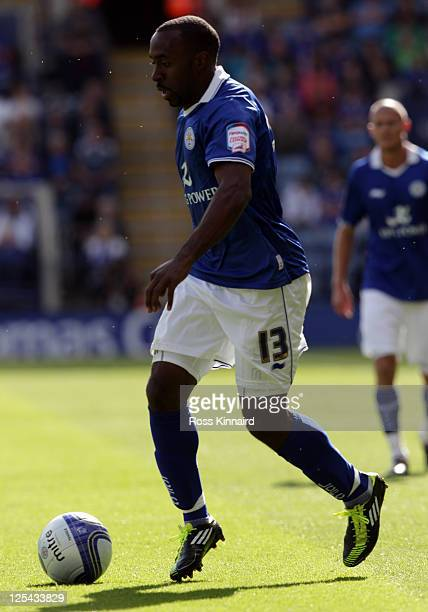 Darius Vassell of Leicester during the npower Championship match between Leicester City and Brighton Hove Albion at The King Power Stadium on...