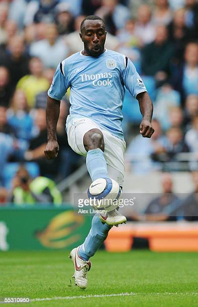 Darius Vassell of Manchester City in action during the Barclays Premiership match between Manchester City and Portsmouth at the City of Manchester...