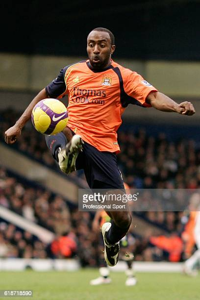 Darius Vassell of Manchester City in action during the Barclays Premier League match between West Bromwich Albion and Manchester City at The...