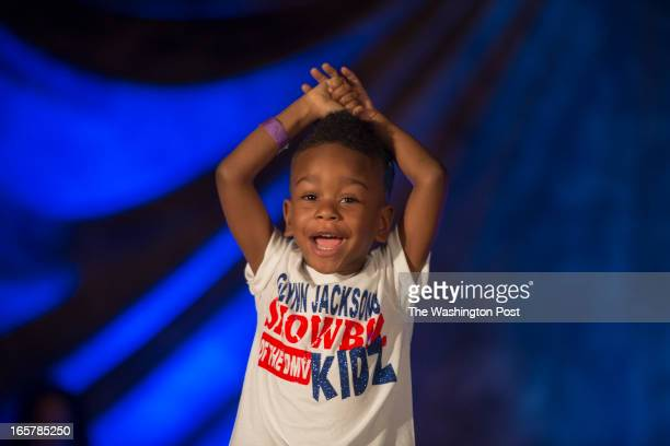 Darius Yarborough displays his excitement on stage in the 3rd Annual Glynn Jackson's Show Biz Kidz at The Silver Spring Civic Building in Silver...
