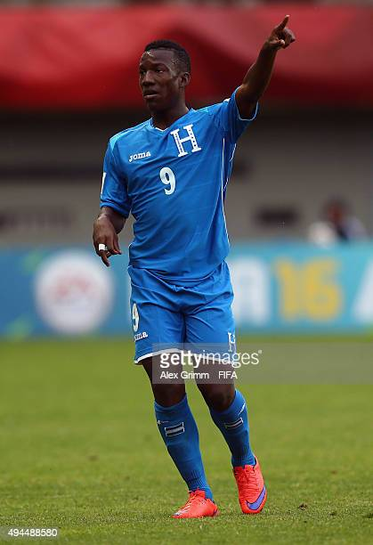 Darixon Vuelto of Honduras reacts during the FIFA U17 World Cup Chile 2015 Group D match between Mali and Honduras at Estadio Nelson Oyarzun Arenas...