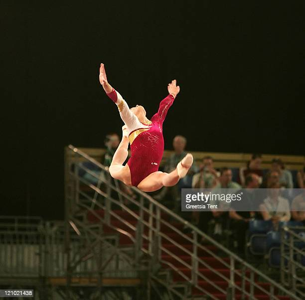 Dariya Zgoba on the beam during the 2007 European Women Artistic Gymnastics Championships in Amsterdam Netherlands on April 28 2007