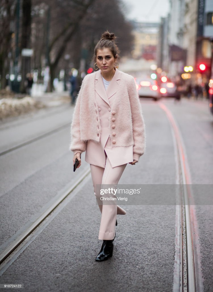 Darja Barannik is seen outside by TiMo on January 26, 2018 in Oslo, Norway.