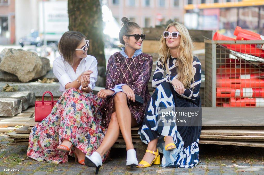 Street Style - Copenhagen Fashion Week Spring/Summer 2018: Day 2 : News Photo