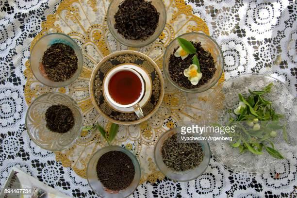 darjeeling tea, india - argenberg - fotografias e filmes do acervo