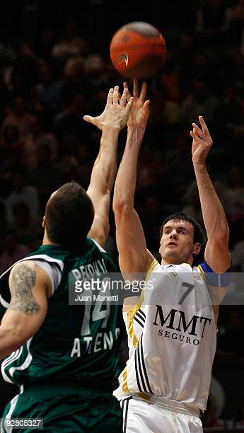 Darjus Lavrinovic of Real Madrid in action during the Euroleague Basketball Regular Season 2009-2010 Game Day 3 between Real Madrid and Panathinaikos...