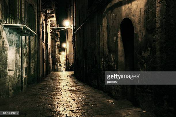 dark alley - alley stock pictures, royalty-free photos & images