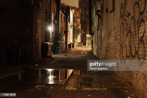 dark alley - sloppy joe, jr stock pictures, royalty-free photos & images