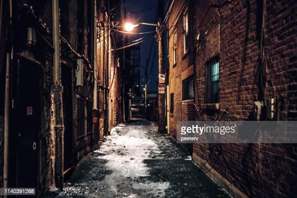 ダーク・アリー-ピッツバーグ (ペンシルベニア) - 路地 ストックフォトと画像