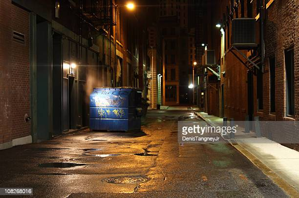 dark alleyway - alley stock pictures, royalty-free photos & images