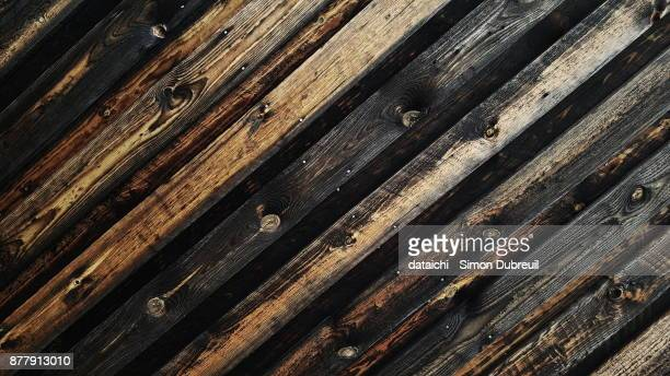 Dark and rustic wood texture
