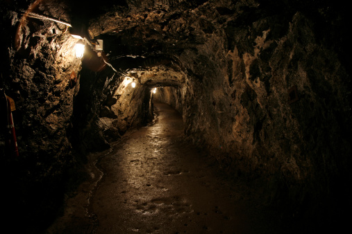 Dark and Wet Sterling Hill Mine Tunnel 108178148