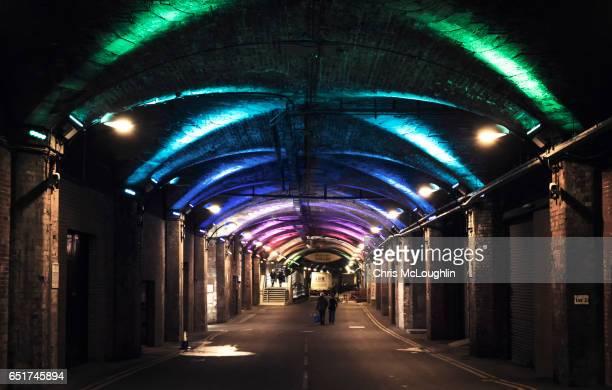dark arches, leeds - leeds city centre fotografías e imágenes de stock