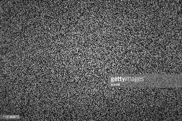 Dark black and white television static