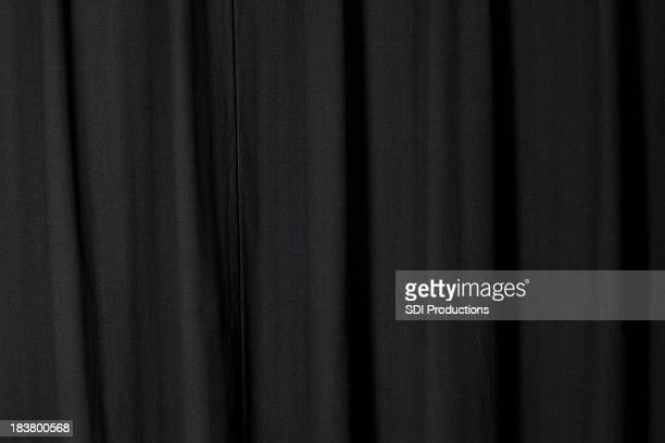 dark black curtain folded at a theater - stage curtain stock pictures, royalty-free photos & images
