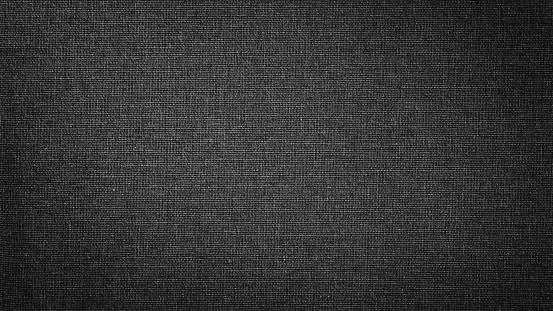 Dark black white linen canvas. The background image, texture. 1096047588