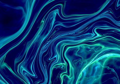 Dark Blue abstract painted marble illustration - gettyimageskorea