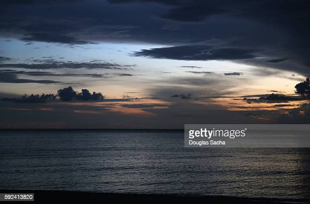 Dark Blue colored Ocean Sky, Don Pedro Island State Park, Placida, Florida, United States