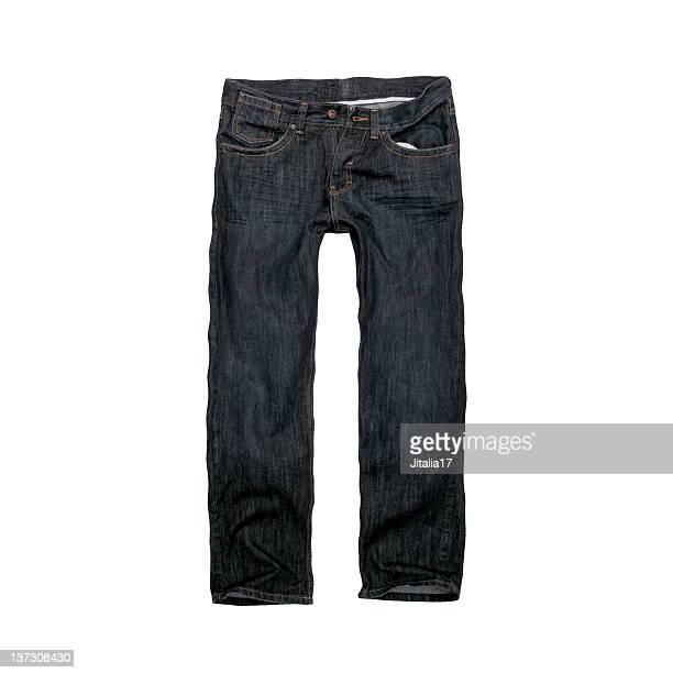 jeans azul escuro, design para homens-fundo branco - jeans calça comprida - fotografias e filmes do acervo