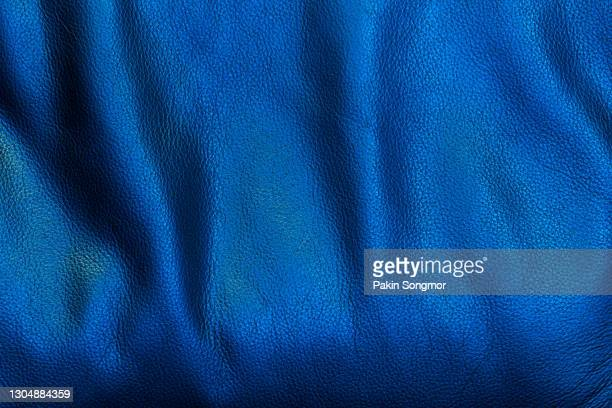 dark blue leather and texture background - leather stock pictures, royalty-free photos & images