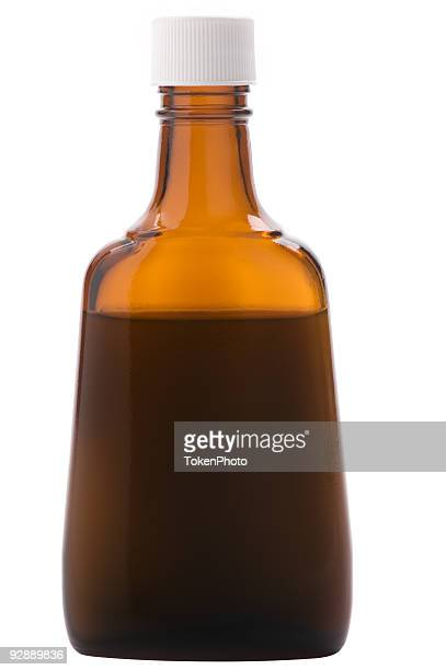 ダークブラウンのボトルキャップ付き