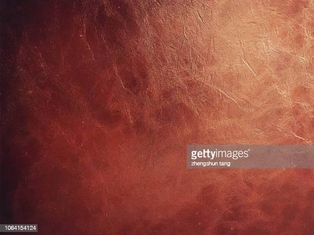 dark brown leather texture in the light - brown stock pictures, royalty-free photos & images