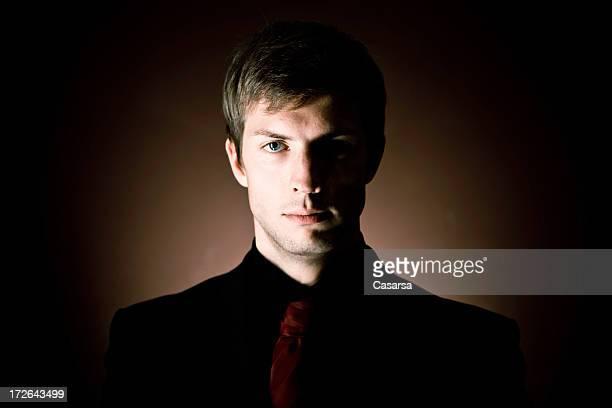 Dark businessman portrait