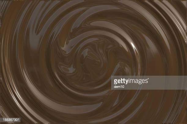 dark chocolate swirl - fudge stock pictures, royalty-free photos & images