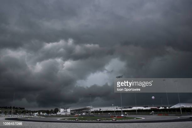 Dark cloud during friday's free practice session of the Malaysian Motorcycle Grand Prix on November 02 held at Sepang International Circuit in Sepang...