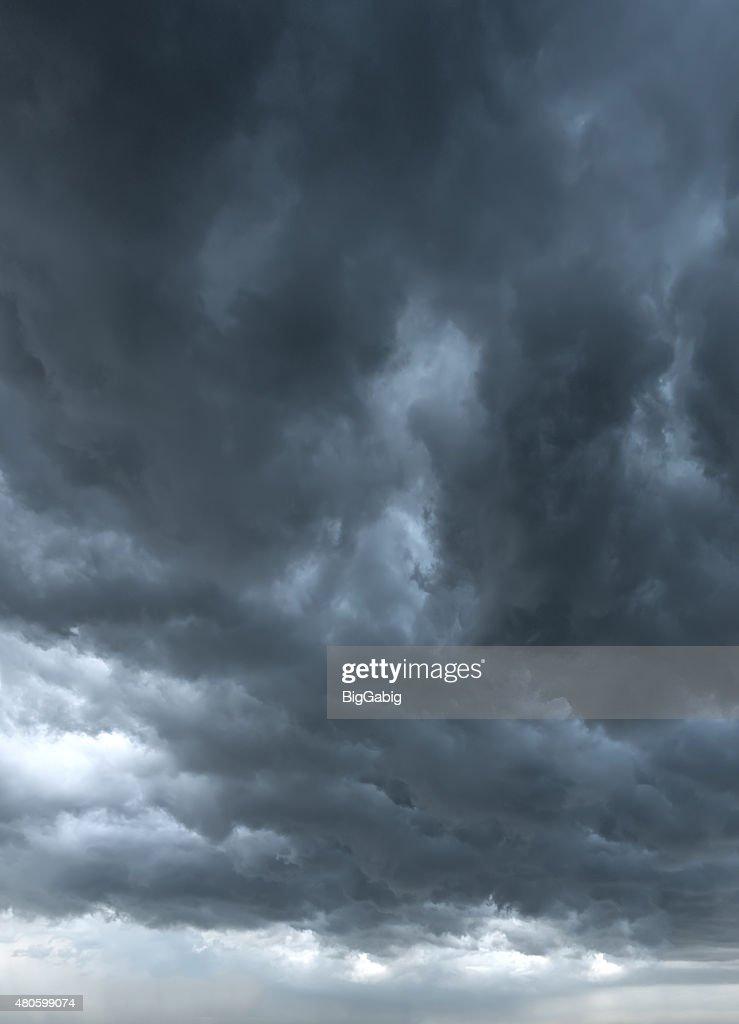 dark clouds background : Stock Photo