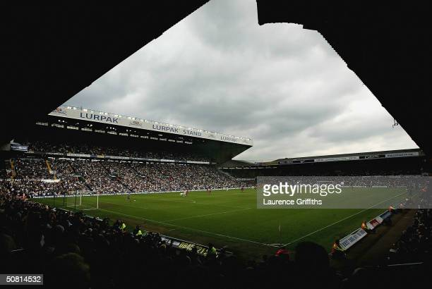 Dark Clouds form over Elland road as First Division football becomes a reality during the FA Barclaycard Premiership match between Leeds United and...