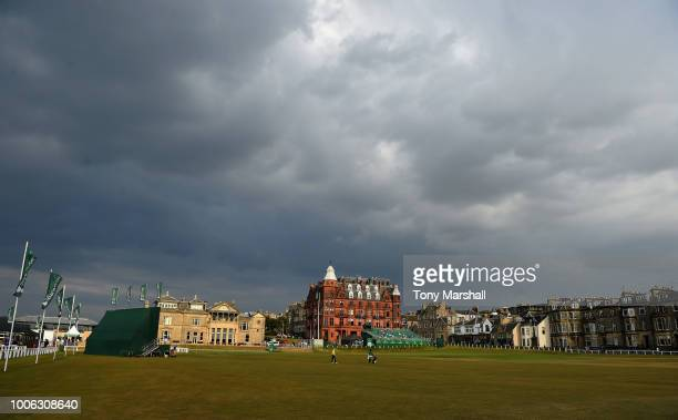 Dark clouds gather over St Andrews during Day Two of The Senior Open Presented by Rolex at The Old Course on July 27, 2018 in St Andrews, Scotland.