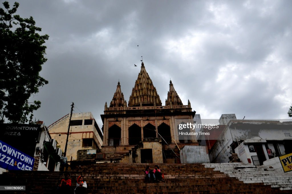 Dark Clouds Hover Over Assi Ghat, Varanasi