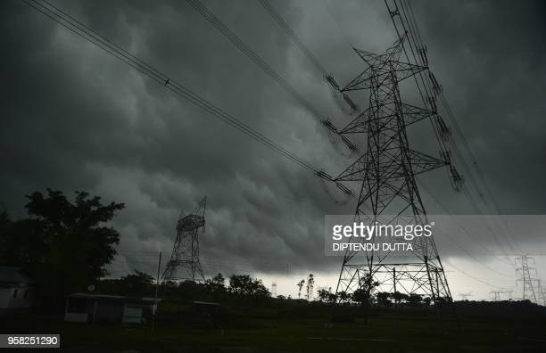 Dark clouds loom over the sky at Chopra village in West Bengal on May 14 2018